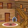 Modern wood house escape